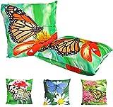 JACK Outdoor Lounge Kissen 45x45cm Motiv Dekokissen Schmetterling Wasserfest Sitzkissen Garten Stuhl...