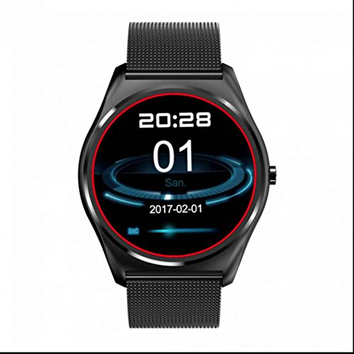 Hgggluuu Bluetooth Sport Uhr Handy Uhr Smartwatch Uhr Schrittzähler HTC Monitor Heart Rate Monitor Elegant LED Sleep Monitor Sport Watch Touch Screen hände frei für Android/IOS/Samsung/Huawei
