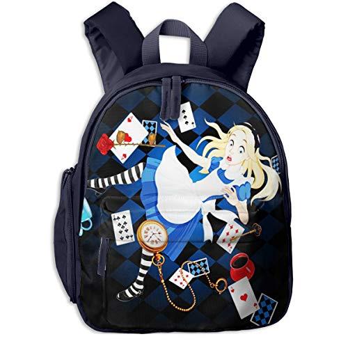 Mochilas Infantiles, Bolsa Mochila Niño Mochila Bebe Guarderia Mochila Escolar con Wonderland Alice está cayendo