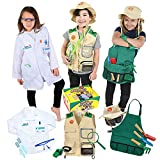 Born Toys Premium dress up clothes for kids ages 3-7-Scientist-explorer- kids gardening all costumes include accessories and are washable
