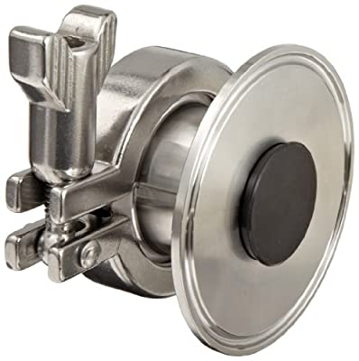"""Dixon B45AB-R250 Stainless Steel 316L Sanitary Air Blow Check Valve, 2-1/2"""" Tube OD Quick Disconnect by Dixon Valve & Coupling"""