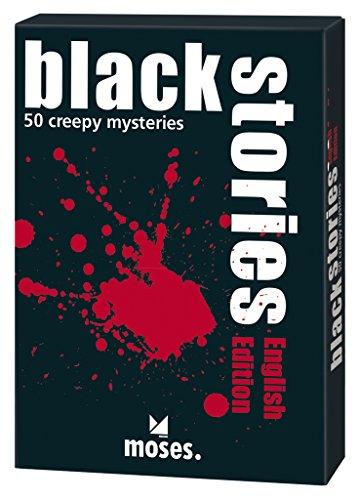 moses. black stories English Edition | 50 rabenschwarze Rätsel | Das Krimi Kartenspiel