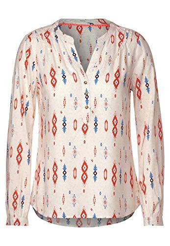 Cecil Damen Bluse mit Ethno-Print Light Alabaster beige XL