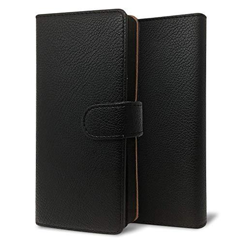 改良進化版 プルームテック プラス ケース Ploom TECH + 賢者の箱+ まとめて収納 コンパクト手帳型 ライチ柄 新型 ブラック