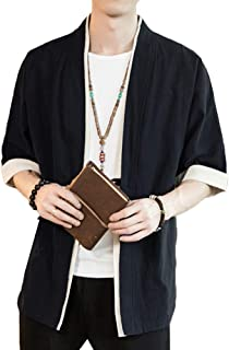 Liangzhu Herren Happi Kimono Haori Jacke Übergangsjacke Mä