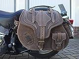 ORLETANOS Big Boy marrón Dirty compatible con bolsa de sillín Harley Davidson Wildstar Dragstar HD Indian Maleta lateral Bolsillo lateral
