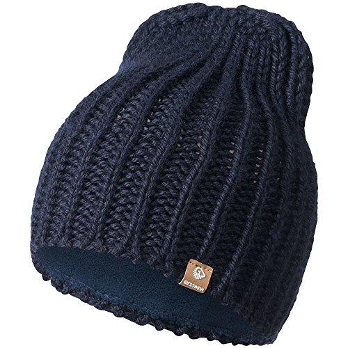 GIESSWEIN Strickmütze Giebel - Warme Mütze aus Merinowolle, Unisex High Beanie für Damen & Herren, gefütterte Wollmütze mit Fleece Innenfutter, Winter Cap