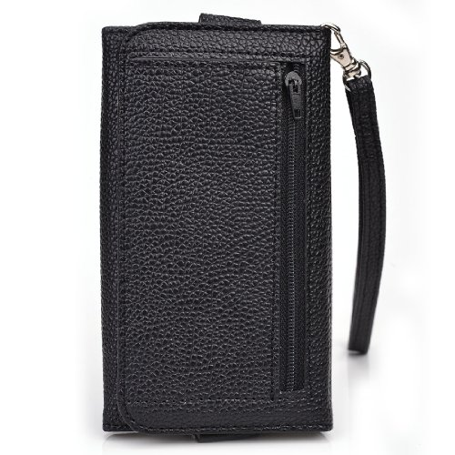 Womens wallet phone holder w/ id holder and coin pocket. Universal fit for: Asus Zenfone 2 ZE551ML Zenfone 5 Lite A502CG  Zenfone 2E  Zenfone 2 DELUXE ZE551ML