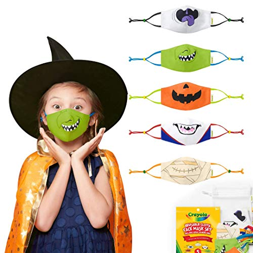 Crayola Reusable Cloth Kids Face Mask Set, Halloween