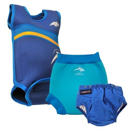 Konfidence Babywarma e pannolini da nuoto, taglia M, colore: blu, 6 A, 9 mesi