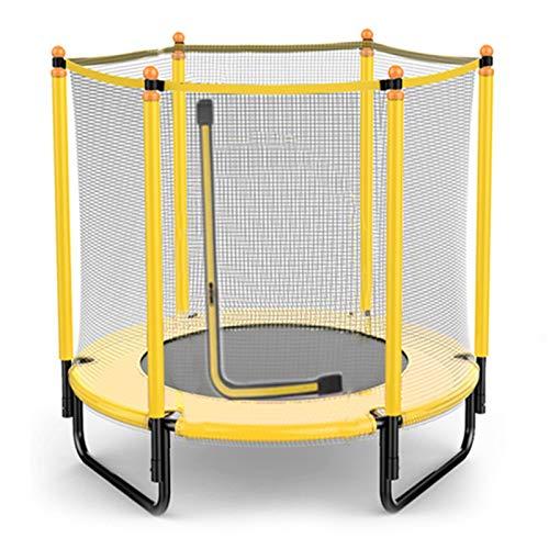 Cama Elastica Exterior, Camas Elasticas para Niños, Trampolín para Niños Pequeños, Trampolin Fitness para Niños, Jardín Exterior Trampolín Y Tambor De Cintura (Color : Yellow)
