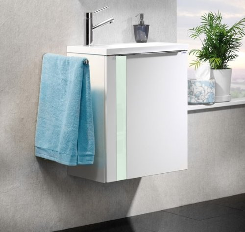Lanzet Bad-Programm Vedro 500, Weiß Waschtisch, Weiß/Mint