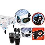 Party City Philadelphia Flyers Party Kit for 16 Guests, Includes Table Cover, Plates, Napkins and More