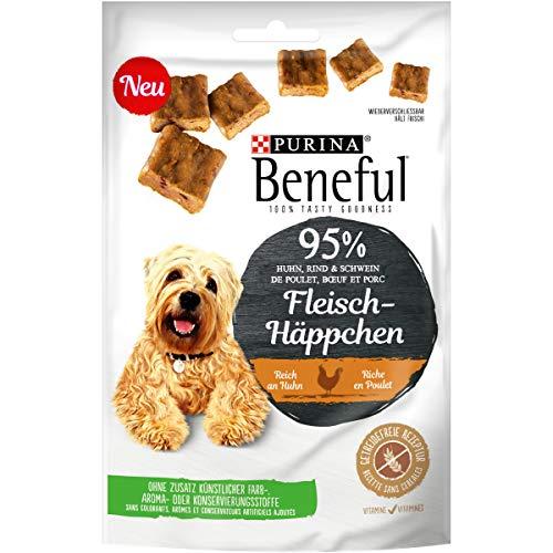 Beneful Fleisch-Häppchen Huhn Hundesnack Beutel, 7er Pack (7 x 70 g)