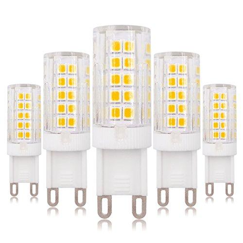 G9 Bombilla LED regulable 6W Blanco cálido 3000K 60W Bombilla halógena de repuesto 220V - 240V, 5 unidades