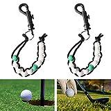 YEYIT 2pcs Contatore di Perline da Golf Contatore di Colpi di Golf Contatore di Punteggio da Golf Custode del Punteggio di Golf Contatore di Punti per Arbitro, Utile per il Golfista