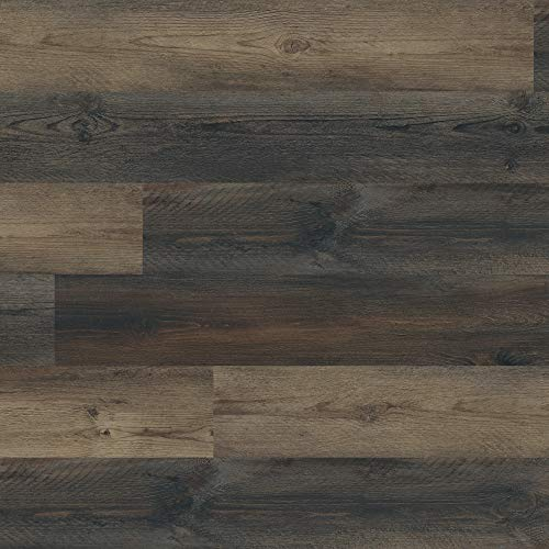 M S International AMZ-LVT-0098 7 inch x 48 inch Luxury Vinyl, Rigid Core Planks, Tile, Click Lock Floating Floor, Waterproof LVT McKenna, CASE, Brown, 23 Square Feet