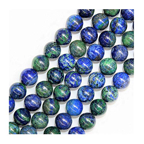 Cuentas de piedras preciosas de azurita natural para hacer joyas, cuentas redondas, cuentas de 8 mm, cuentas de piedras preciosas para hacer pulseras, cuentas de piedras preciosas sueltas