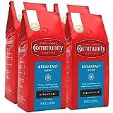 Community Coffee Breakfast Blend Medium Roast Coffee, Ground, 128 Oz, Pack of 4