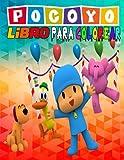 pocoyo libro para colorear: 50 grandes dibujos para niños...