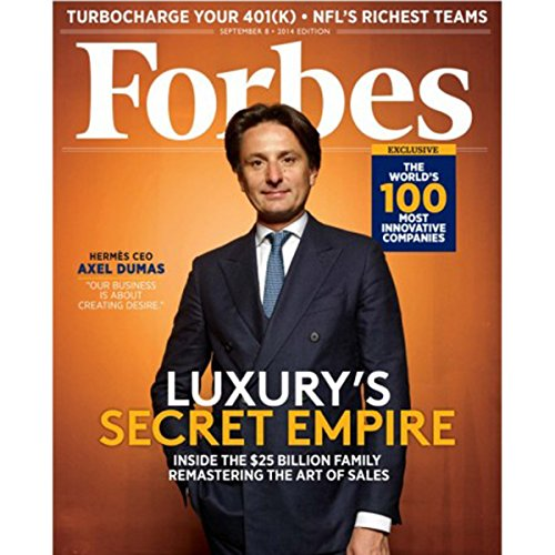 Forbes, August 25, 2014 audiobook cover art