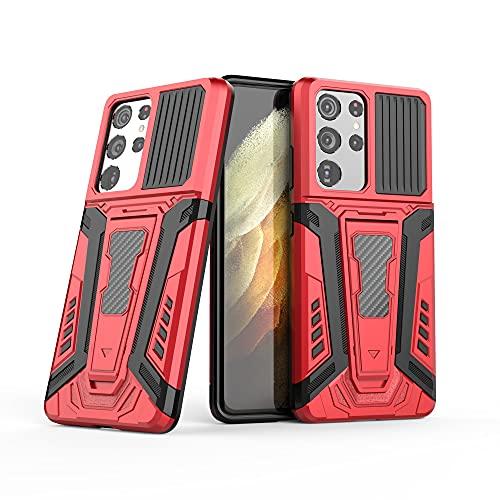 Case Cover, Per Samsung Galaxy S21 Custodia per cellulare Ultra Mobile, custodia per smartphone, portafoglio antiurto custodia per cellulare adatto per Samsung Galaxy S21 Ultra ( Color : Cola Red )
