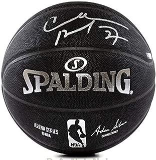 CHARLES BARKLEY Autographed Replica Black Spalding Basketball PANINI