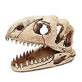 Yang baby Aquarium Fish Tank Paisajismo Dinosaurio Cráneo Acuario Adornos Accesorios Tanques de Peces Vivarium Decoración Resina