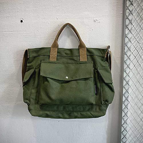 ghig Casual Crossbody Bag Canvas Men's Bag Bag Shoulder Bag Student Messenger Bag Diagonal Cross Bag Female Korean Edition Backpack Femme Vert Militaire