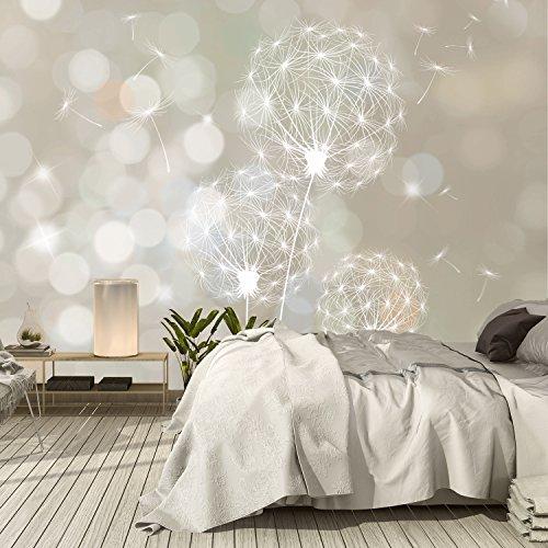 Murimage fotobehang bloemen paardenbloem 366 x 254 cm plant muur decoratie slaapkamer behang inclusief behanglijm