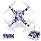 Accesorios para drones Rejillas Adhesivo impermeable de PVC para la piel para DJI Phantom 3 Película protectora para el cuerpo del dron + Cubierta del control remoto [J30048] Accesorios para cuadricóp