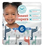 The Honest Company Disposable Baby Diapers, Multi Colored Giraffes, Size 6, 22 Count