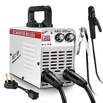 Welder Arc Welder 110V 220V Dual Voltage 120Amp MMA Stick Welding Machine IGBT Inverter Portable Lightweight DC Welder LCD Display for Beginner with Electrode Holder Clamps Welder