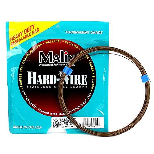 Malin Wire Leader| King Mackerel Wahoo Shark Rigging (#10 (131lb) 163' roll)