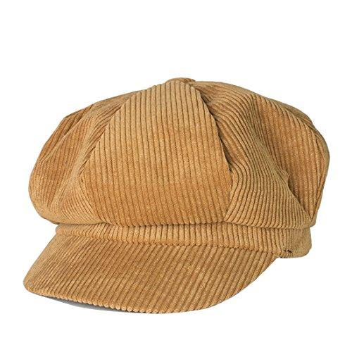 Kuyou Winter Gatsby Newsboy Barett Cap Schirmmütze Kappe Hut , Einheitsgröße, Kamel