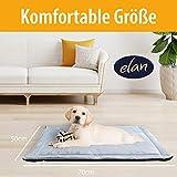 elan ® Hundekissen - hygienische & Bequeme Hundedecke - leicht zu reinigen und rutschfest – atmungsaktives Material - Ideal für unterwegs 70x50cm - 2