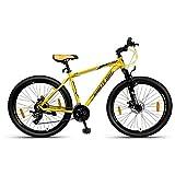 NINETY ONE Viper 27.5T 21 Speed Hybrid Bike (Yellow, Ideal for: 12+ Years, Brake: Disc)
