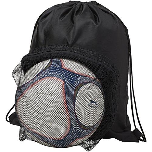 Bullet - Mochila modelo Goal para balón (Paquete de 2) (36 x 44.5 cm) (Negro)