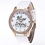JBLDY Zhou Lianfa Zalora Ebay.Reloj para Mujer F-615 Correa De Cocodrilo,Blanco,Un tamaño