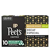 Peet's Coffee Decaffeinated Especial K-Cup Coffee Pods for Keurig Brewers, Medium Roast, 10 Pods