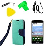 Wallet Flip Pouch Phone Cover Case + Car Charger +...