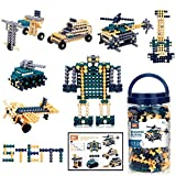 Building Blocks Stacking Toys for 3 4 5 6 7 8 9 10+ Year Old Girls Boys STEM Toys Activities Autism Educational Building Toys Idea Birthday Gifts for Kids with 408 Pcs Sticks Design Guide Storage Jar