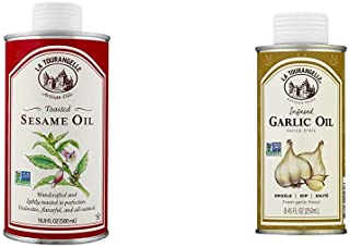 La Tourangelle Toasted Sesame Oil – Rich, Deep, Delicious Flavor – All-natural, Expeller-pressed, Non-GMO, Kosher – 16.9 F...
