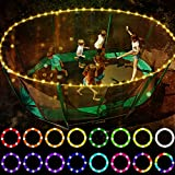 LED Trampoline Lights,Remote Control Trampoline Rim LED Light for 10Ft Trampoline, 16 Color Change by Yourself, Waterproof,Super Bright to Play at Night Outdoors, Good Gift for Kids