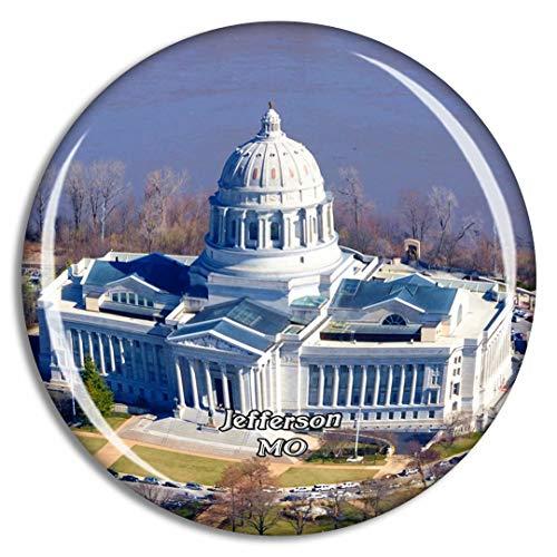 Jefferson City Missouri State Capitol Missouri USA Magnet Travel Souvenir 3D Crystal Glass Collection Gift Refrigerator Sticker