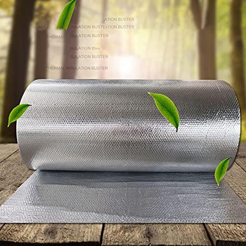 JAYHA 4mm Rotolo Isolante Riflettente Lamina Termoriflettente E Isolante Autoadesiva per Tetti Garage Finestre Greenhouses Esterne Pavimenti Sheds Pareti dei Termosifoni(Size:1m*20m)