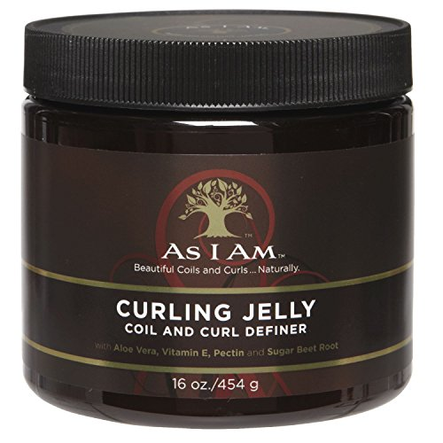 As I Am Curling Jelly - 16 Ounce - Curl & Coil Definer - Hi-Definition and Shine - Anti-Shrinkage and Stretches Curls - Anti-Frizz - Flake Free Formula