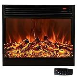 Chimenea eléctrica, (28'/70 cm), chimenea eléctrica de pared con calefacción, efecto de llamas en 3D y mando a distancia,...
