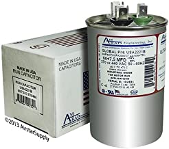(2) Pack - Nordyne Intertherm Miller 621698 - 60 + 7.5 uf MFD 370 / 440 Volt VAC Amrad Replacement Round Dual Run Capacitor - Made in the U.S.A.