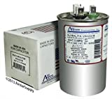 60 + 7.5 uf/Mfd Round Dual Universal Capacitor Replacement Amrad USA2221B Replacement - Used for 370 or 440 VAC, Made in The U.S.A.